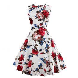 0ae8753ee8e5 Hvid kjole med blomster 3267